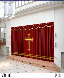 Church curtains curtains for church in custom size for Motorized curtains home theater