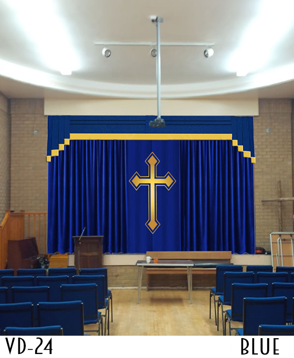 theater curtains for sale cross and your church logo 6091