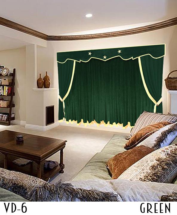 Green Luxury Stylish Theater Curtains