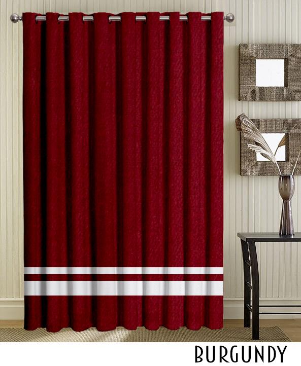 Grommet Top Curtain Burgundy Drapes