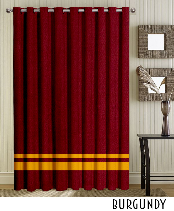 Striped Brown Grommet Curtain