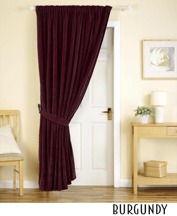 14oz Heavy Velvet Curtain Panel Drapes