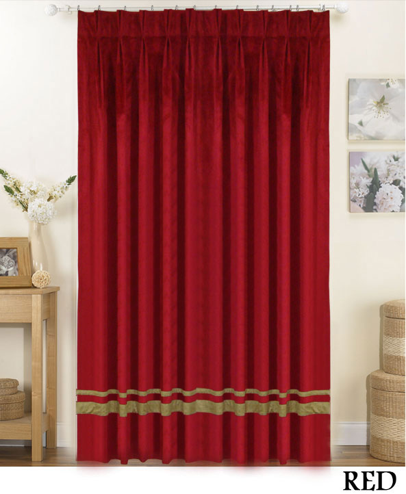 Stripe Pinch Pleat Drapes