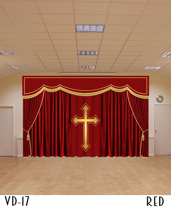 Church Velvet Curtain Hall Stage