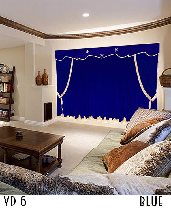 Custom Home Theater Curtains